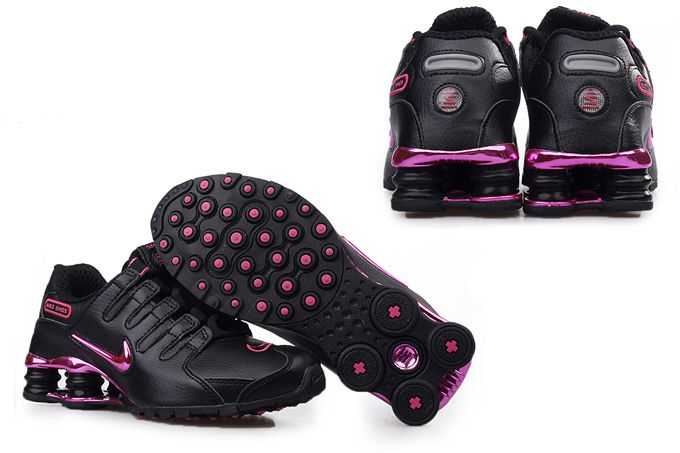 black and purple nike shox